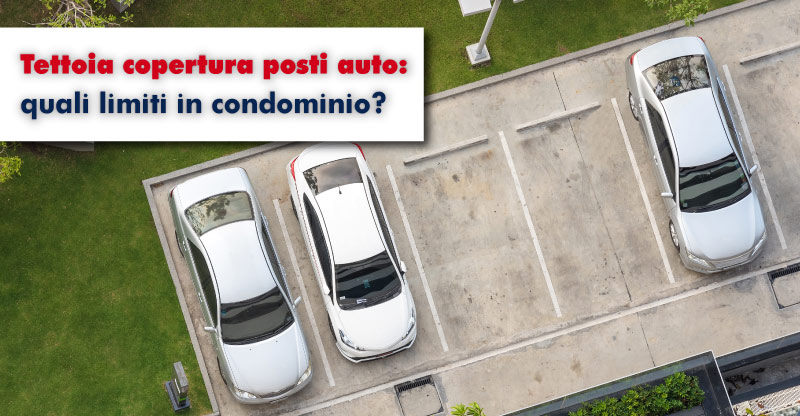 tettoia parcheggio condominio