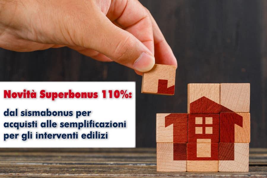 Novità Superbonus 110%: dal sismabonus per acquisti alle semplificazioni per gli interventi edilizi